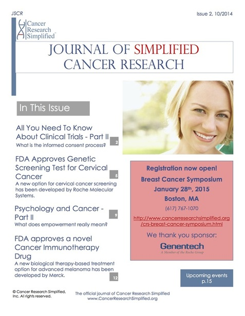 Journal of Simplified Cancer Research - JSCR - Cancer Research Simplified