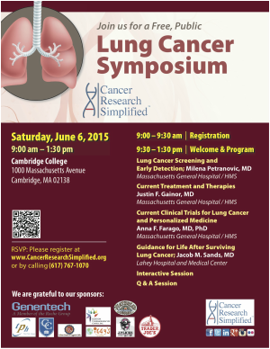 Free Public Lung Cancer Symposium - Cancer Research Simplified