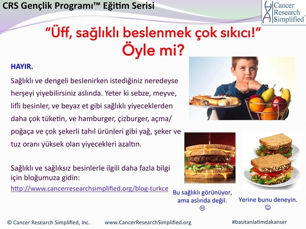Saglikli yasam - saglikli genclik - Cancer Research Simplified