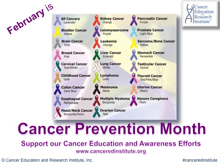 cancer prevention month - cancer education and research institute CERI