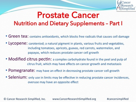 Nutrition and Dietary Supplements - Prostate Cancer - Cancer Research Simplified