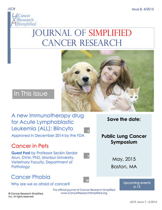 The Jounral of Simplified Cancer Research - April 2015 Issue - Cancer Research Simplified