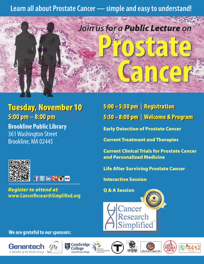 Public Prostate Cancer Lecture - Cancer Research Simplified