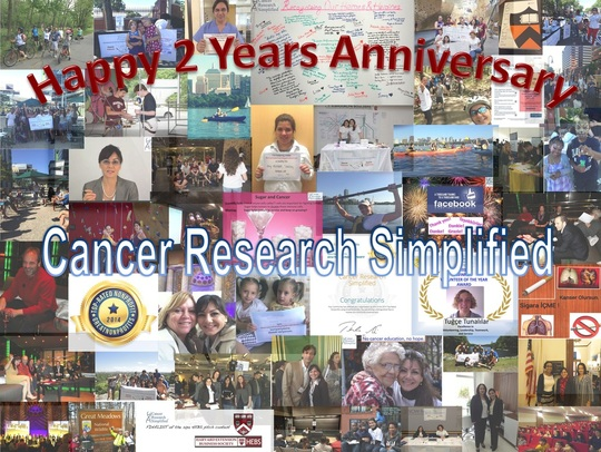 Happy 2 Years Anniversary, Cancer Research Simplified!