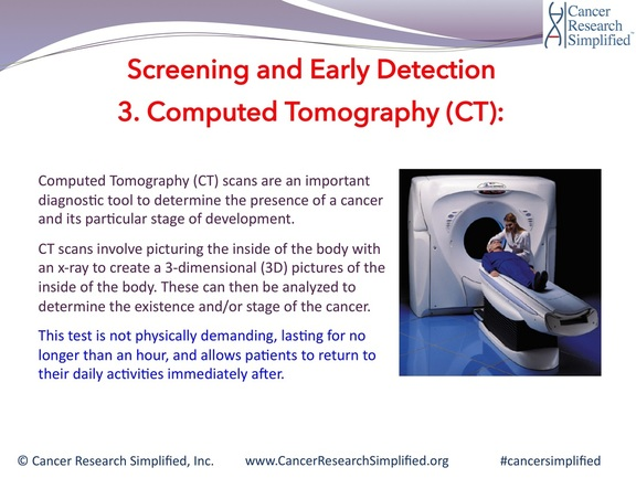 Cancer screening and detection - computed tomography - ct - cancer research simplified