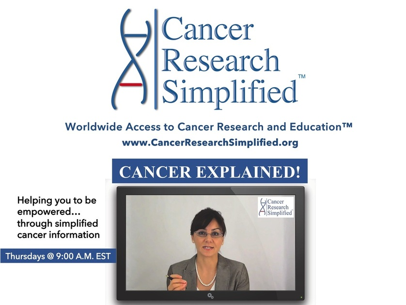 Watch our Cancer Explained! TV Show